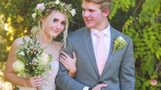 Aspyn Ovard and Parker Ferris wedding photo