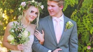 Aspyn Ovard and Parker Ferris wedding photo