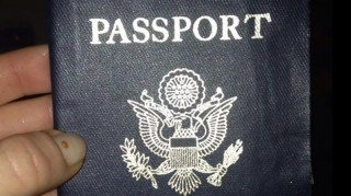 Carly Baker's damaged honeymoon passport.