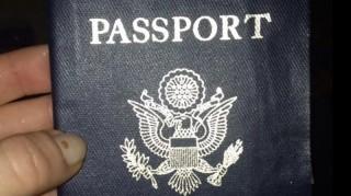 Carly Baker's damaged honeymoon passport.