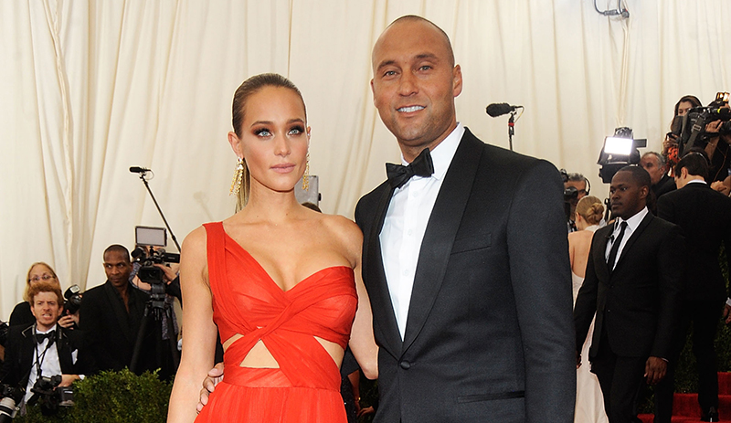 Derek Jeter and Hannah Davis pose at Met Gala