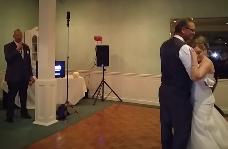 Groom sings father-daughter daughter dance