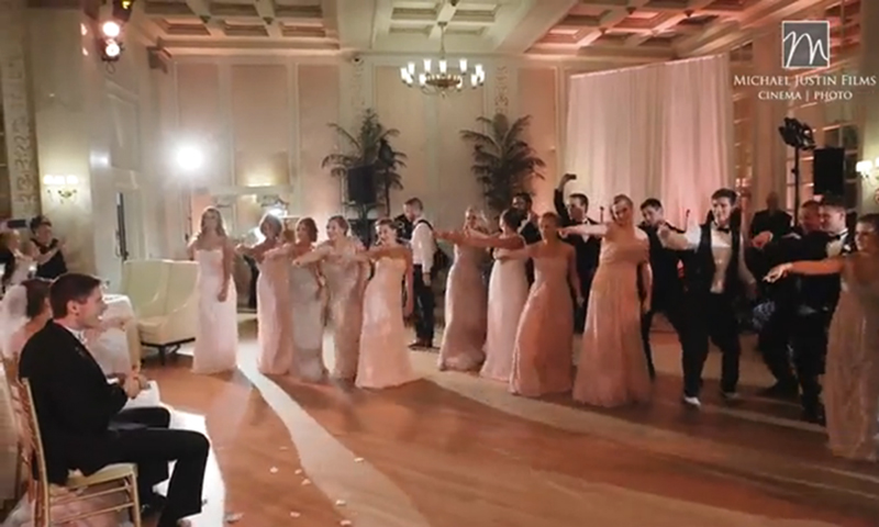 Bridal Party Surprises Newlyweds With Flash Mob Dance