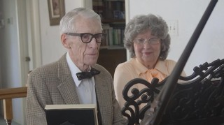 Grandparents play Up piano duet