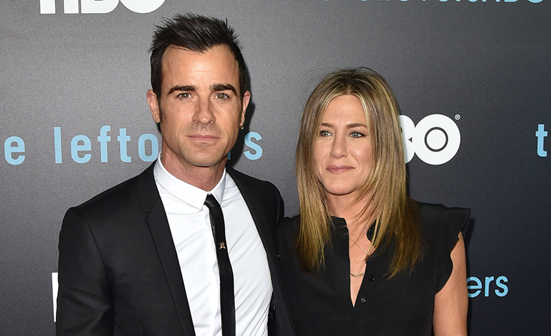 Jennifer Aniston and Justin Theroux at The Leftovers premiere