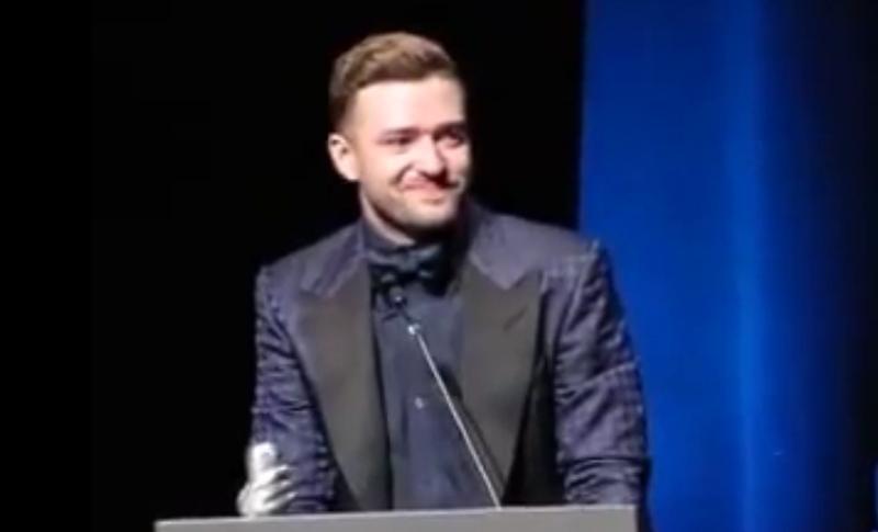 Justin Timberlake cries thanking wife Jessica Biel