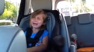 Little girl has meltdown over Adam Levine being married