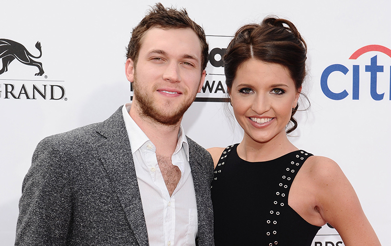 Phillip Phillips and wife Hannah Blackwell