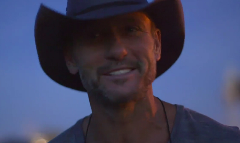 Tim McGraw shares his proposal story to Faith Hill in Facebook video.