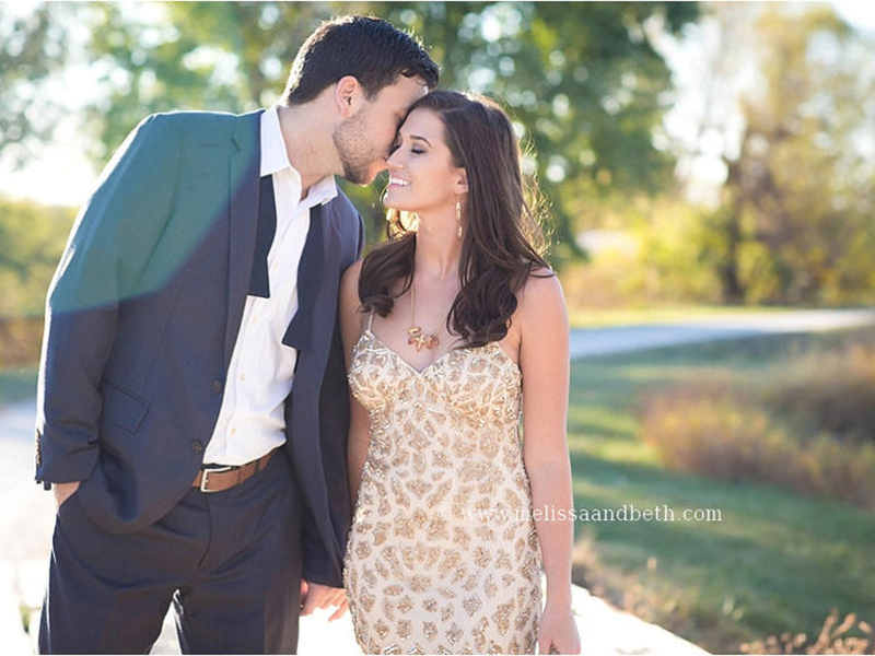 Jade Roper and Tanner Tolbert in formal outfits for engagement photos