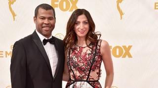 Jordan Peele and fiancee Chelsea Peretti