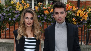 Josh Cuthbert and fiancee Chloe Lloyd