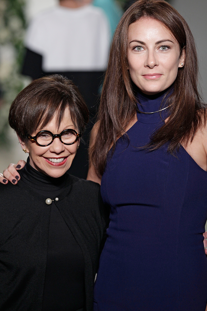 Laura Benanti posing with Anne Barge