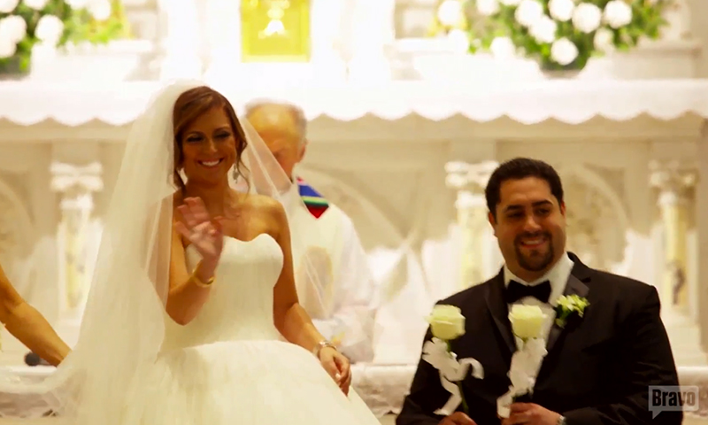Lauren Manzo can't leaving wedding altar in big dress