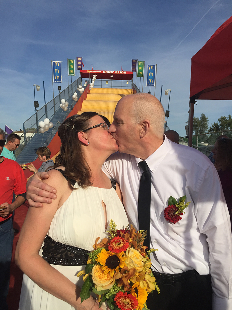 McDonald's wedding couple Mary Anne Purdy and John Romani