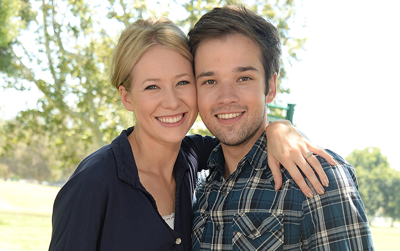 nathan kress wedding icarly. nathan kress and wife london elise moore wedding icarly u