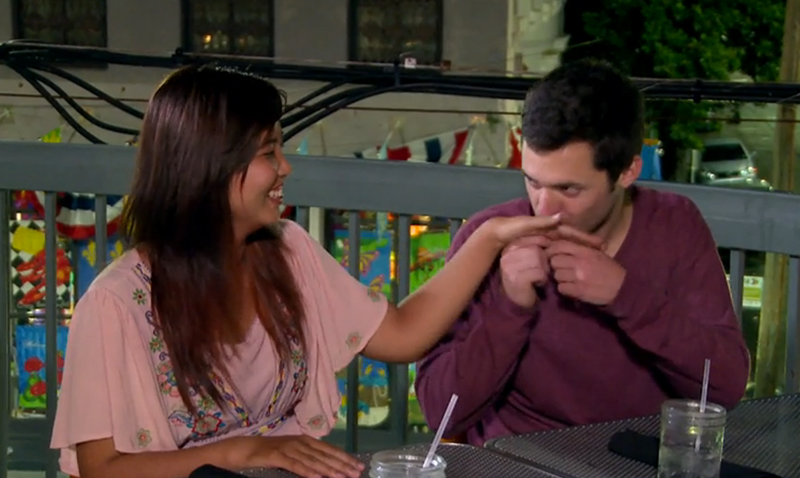Kyle kissing Noon's hand