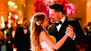Sofia Vergara and Joe Manganiello dancing at their wedding