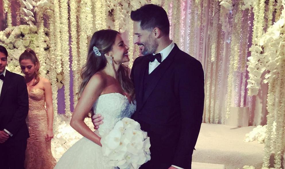 Sofia Vergara and Joe Manganiello smile during wedding ceremony