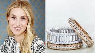 Whitney Port's three Tacori wedding rings