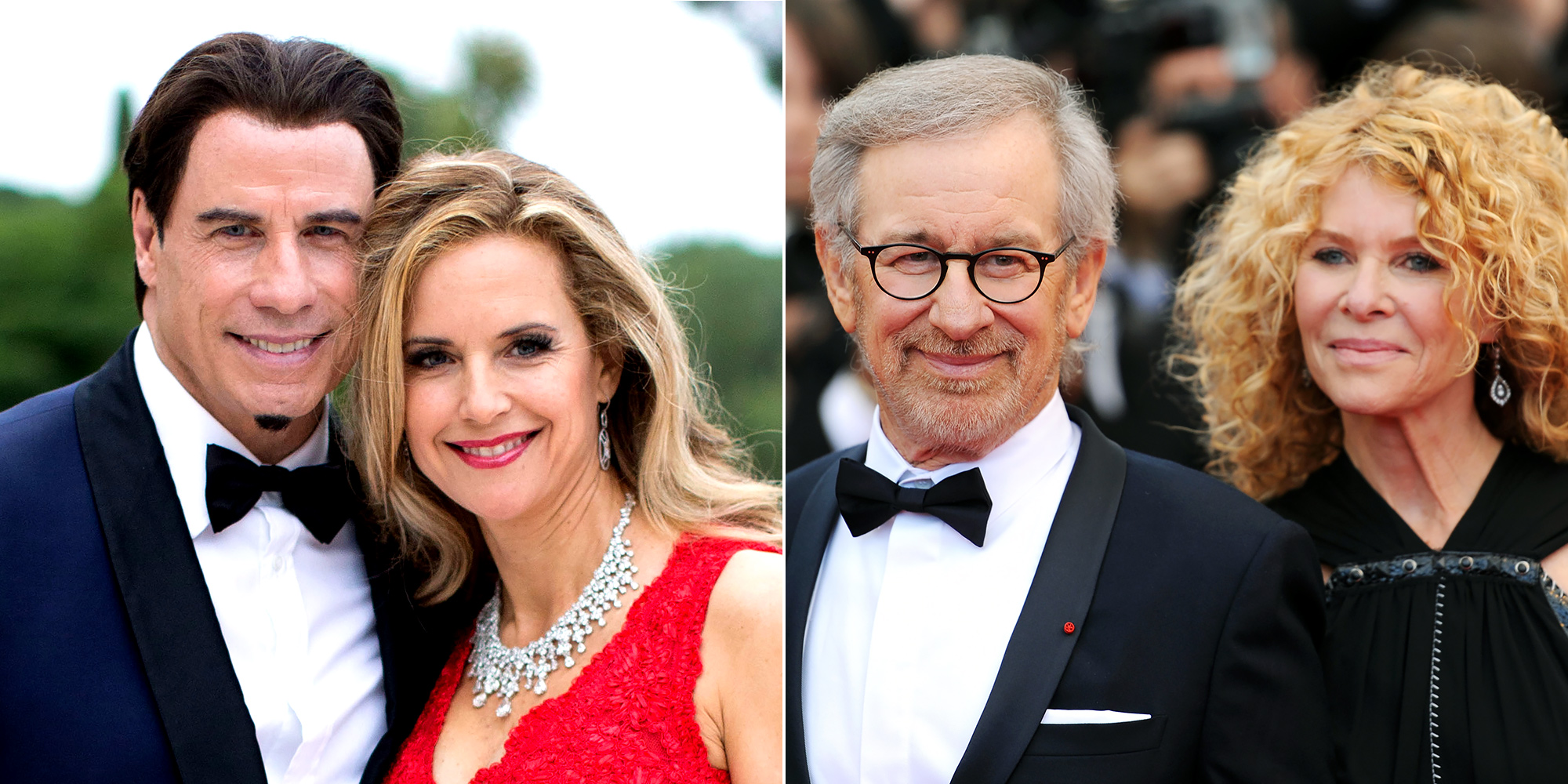 John Travolta and Kelly Preston, Steven Spielberg and Kate Capshaw celebrating wedding anniversaries in 2016