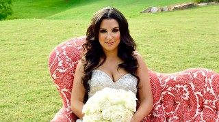 Ashley wore a beaded mermaid gown for her wedding to David on Married at First Sight.