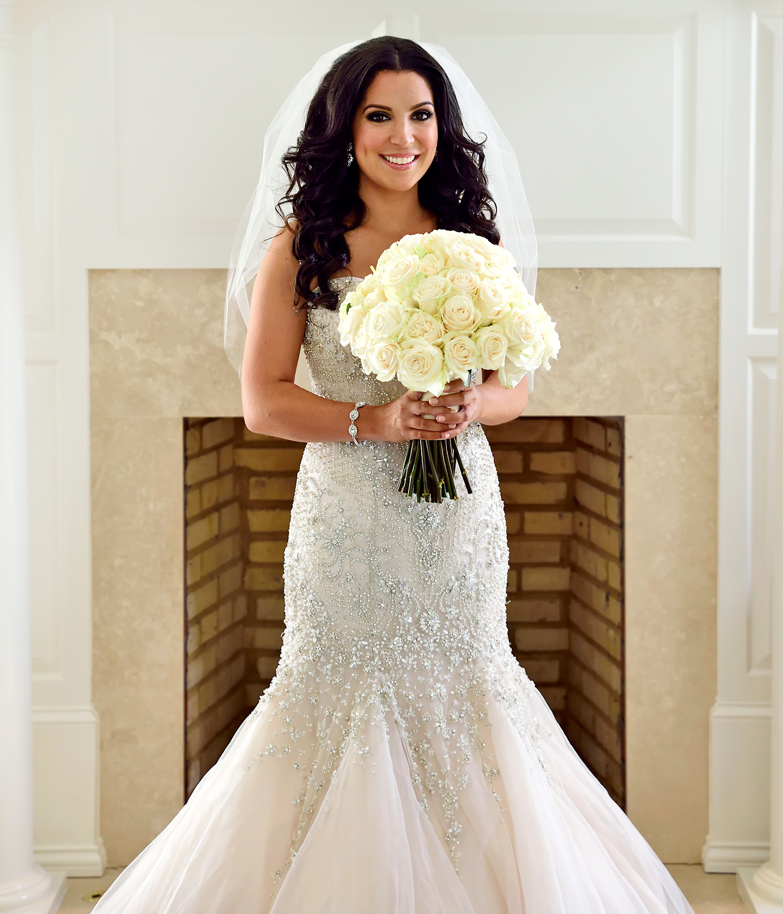 Ashley Wore A Beaded Mermaid Gown For Her Wedding To David On Married At First Sight