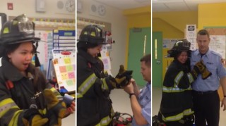 NYC firefighter proposes to kindergarten teacher