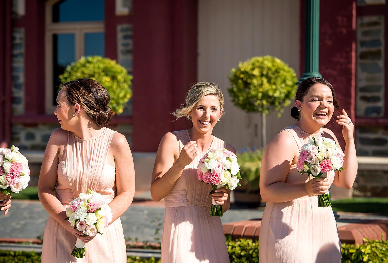 Hannah Lienert's bridesmaids react to Hudson's interruption