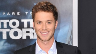 Jeremy Sumpter at Into the Storm premiere