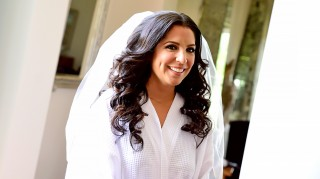 Married at First Sight's Ashley in wedding dress