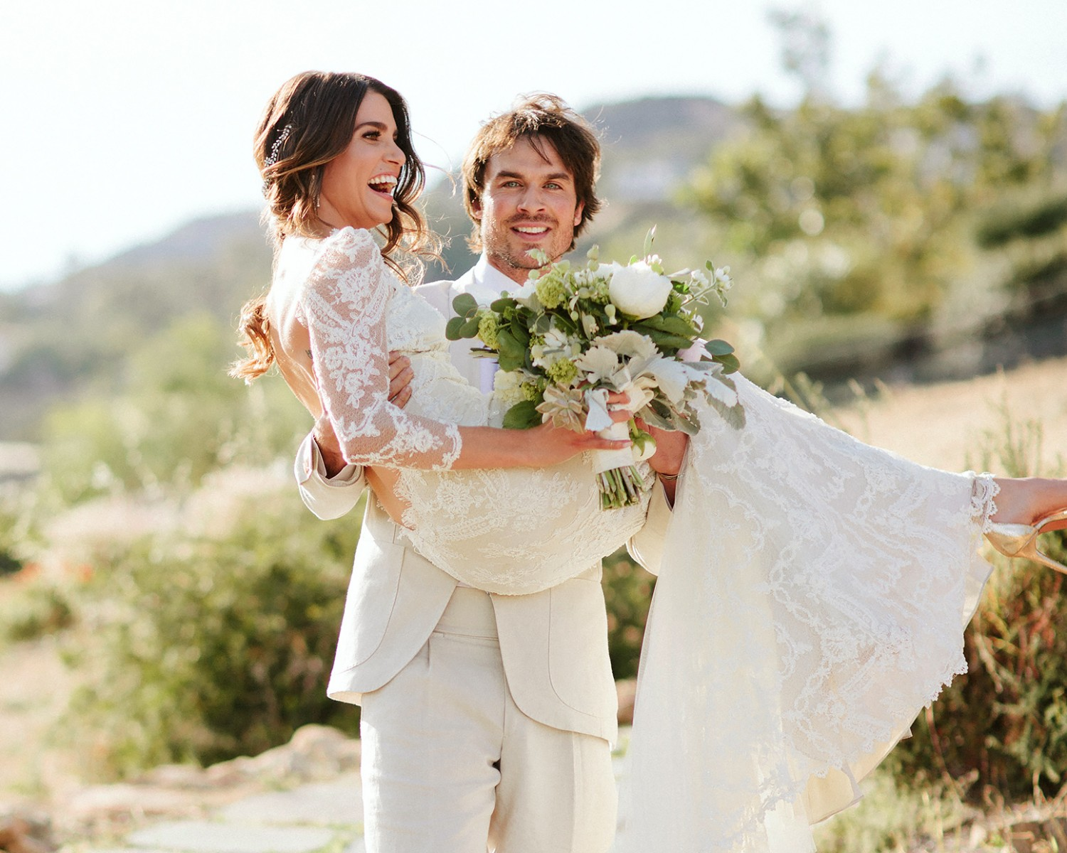 Nikki Reed and Ian Somerhalder get married in Santa Monica, California