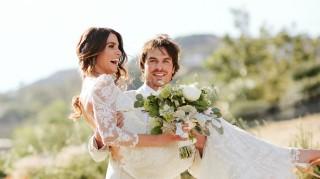 Nikki Reed and Ian Somerhalder get married in Santa Monica, California