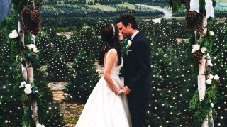Sarah Vickers and Kiel James Patrick marry at Christmas tree farm