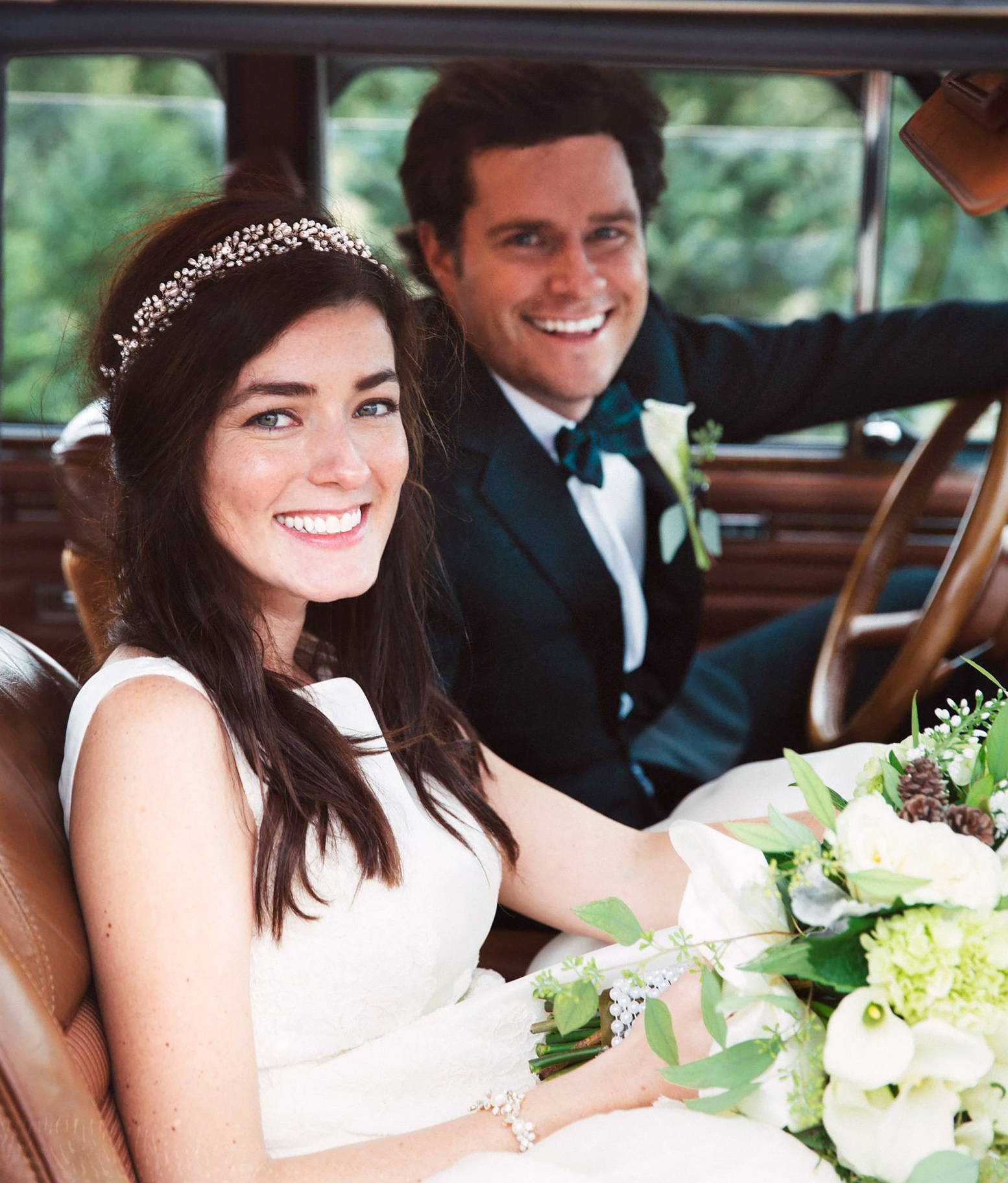 Sarah Vickers and Kiel James Patrick marry at Christmas tree farm