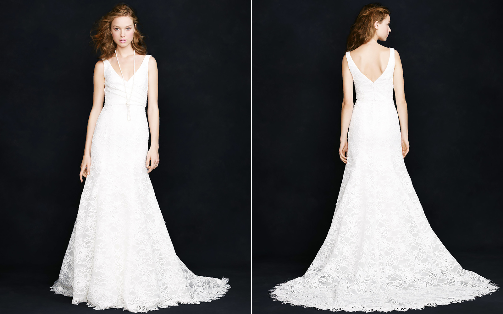 J.Crew Sara Lace Gown, $1,700 on sale from $2,200.