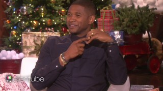 Usher showing off wedding ring on Ellen DeGeneres Show