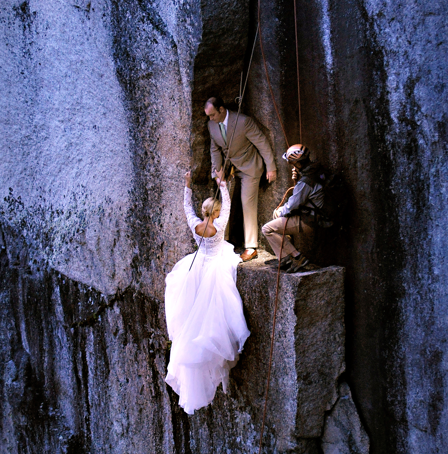 Jay Philbrick Positions Bride And Groom Christie Sulkoski Kevin Coleman On The White Mountains Of