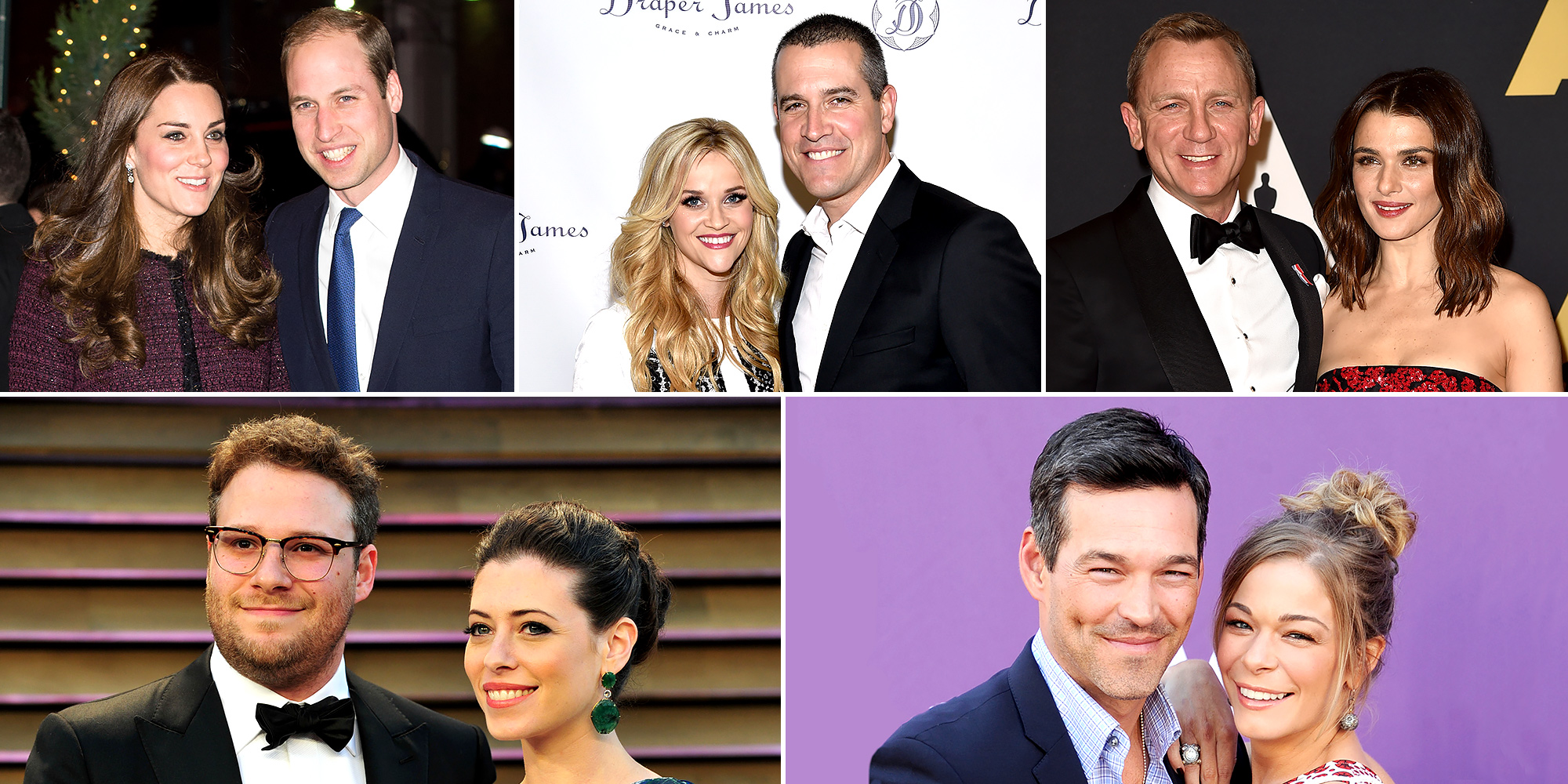 Kate Middleton, Prince William, Reese Witherspoon, Jim Toth, Daniel Craig, Rachel Weisz, Seth Rogen, LeAnn Rimes celebrating wedding anniversaries in 2016