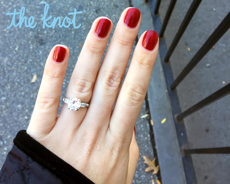 Abby Elliott engagement ring