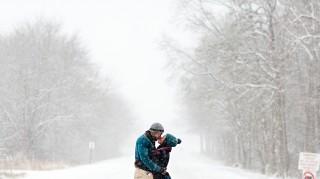 Winter storm Jonas blizzard engagement photos