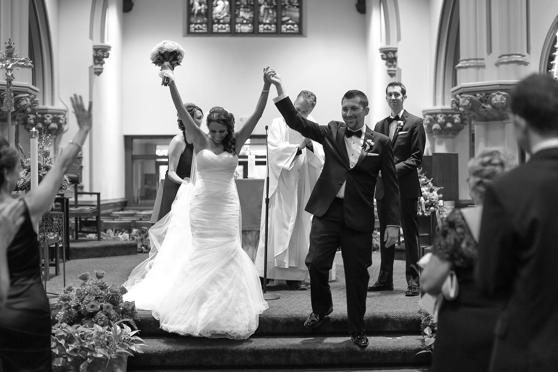 Brian Kurtulik and Lauren leaving wedding ceremony