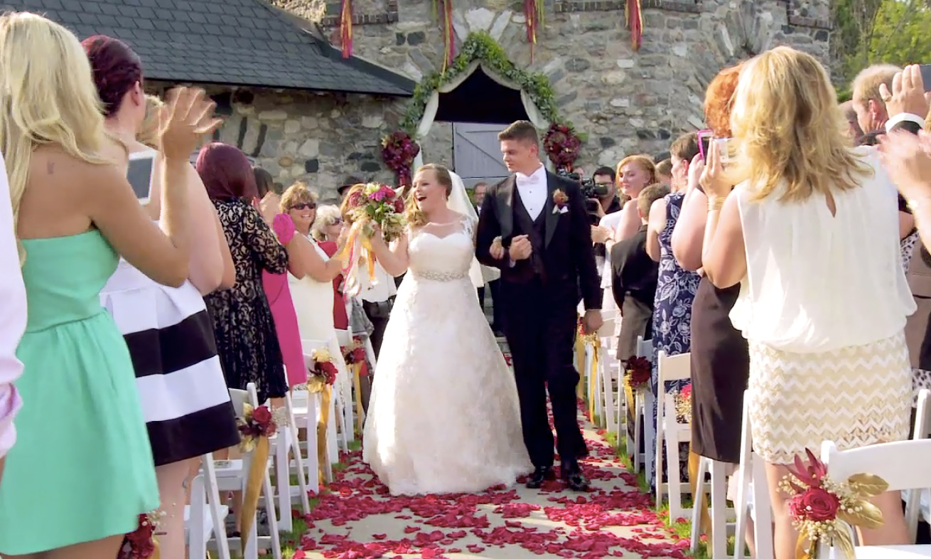 Catelynn Baltierra and Tyler Baltierra in their wedding