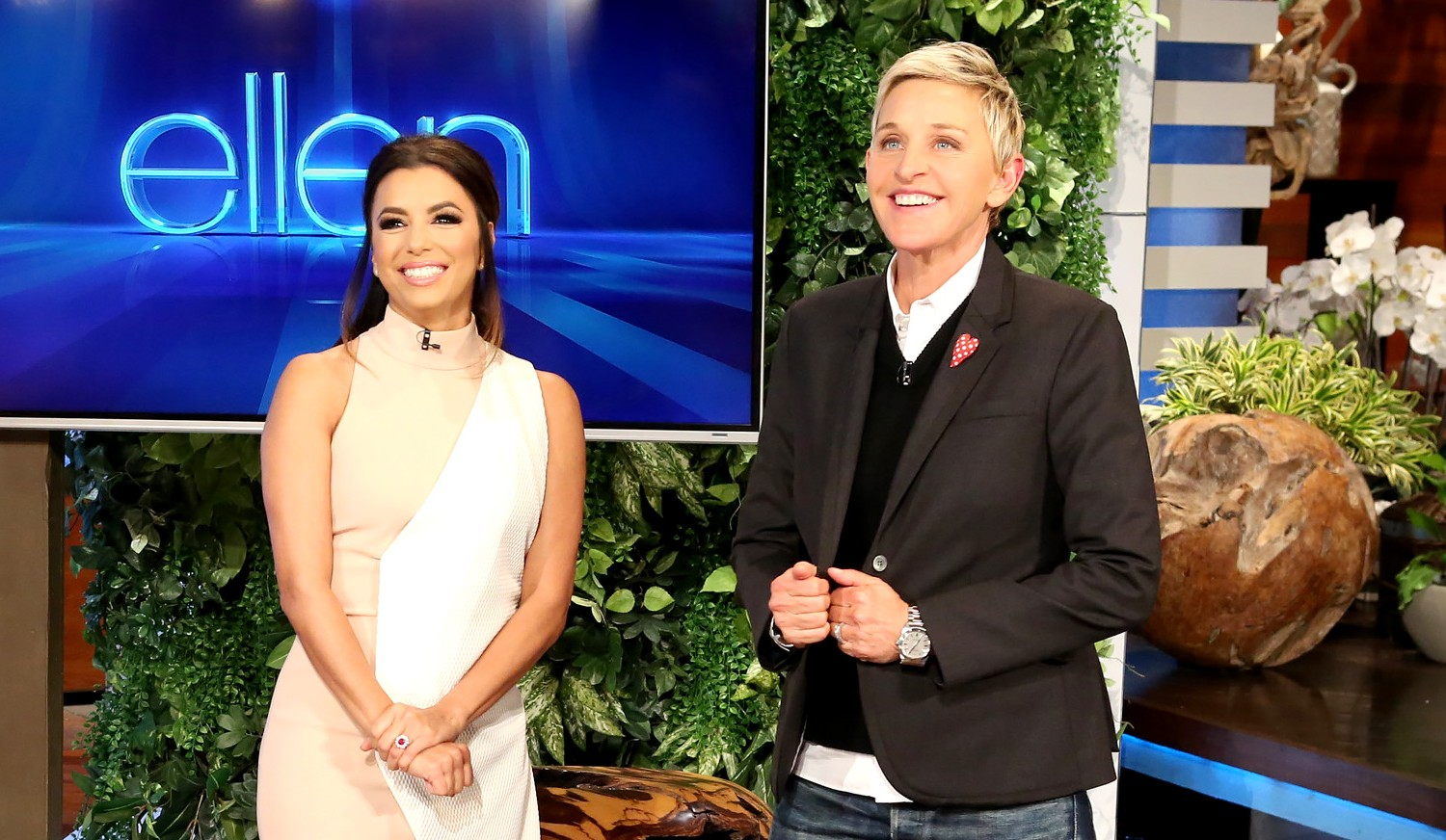 Newly engaged Eva Longoria on Ellen DeGeneres Show