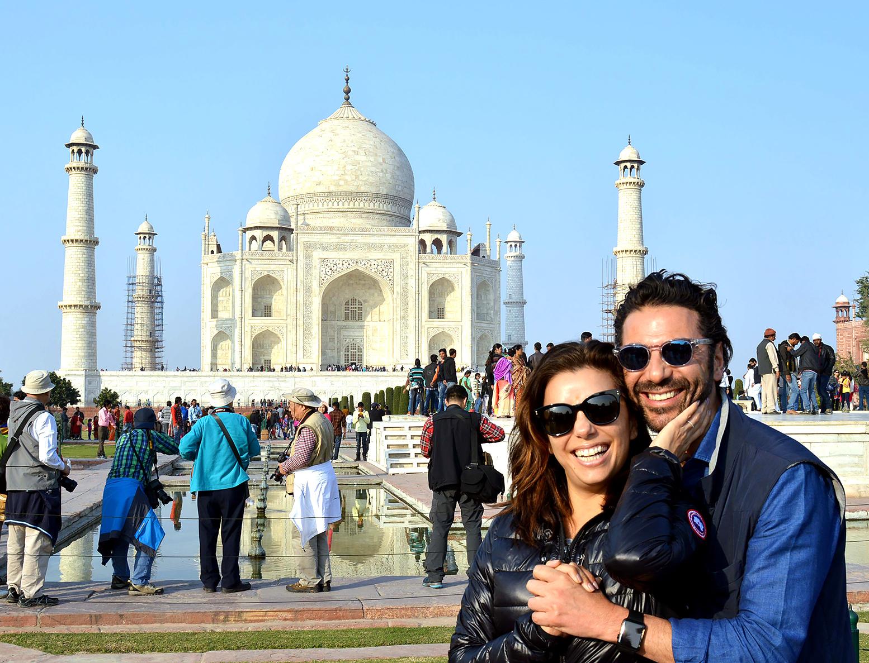 Eva Longoria and Jose Antonio Baston celebrate their engagement at the Taj Mahal