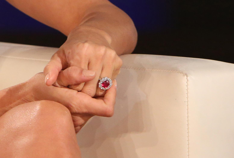Eva Longoria's ruby engagement ring