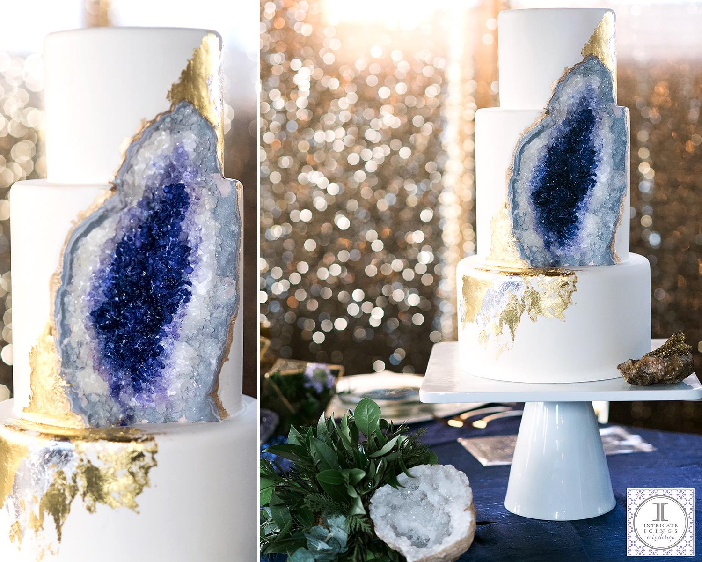 Amethyst Geode Wedding Cake By Colorado Baker Goes Viral