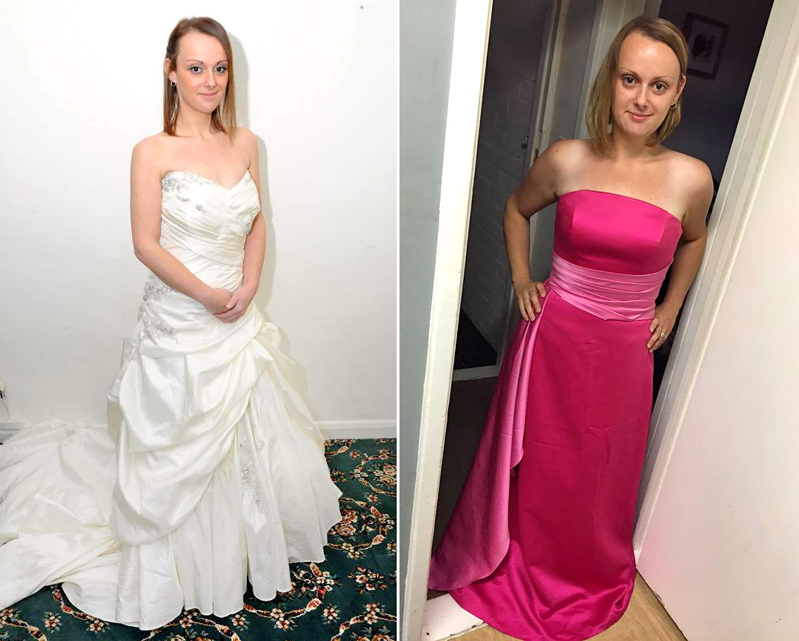 During Her Weight Loss Transformation Joanne Realized She Could Fit In Bridesmaid S Size 10 Dress Credit Mercury Press Courtesy Of En