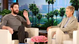 John Krasinski and Ellen DeGeneres