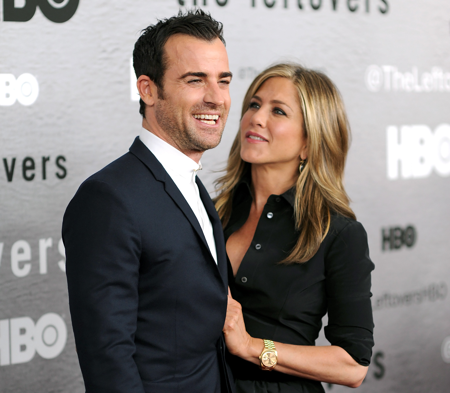 Justin Theroux and Jennifer Aniston married